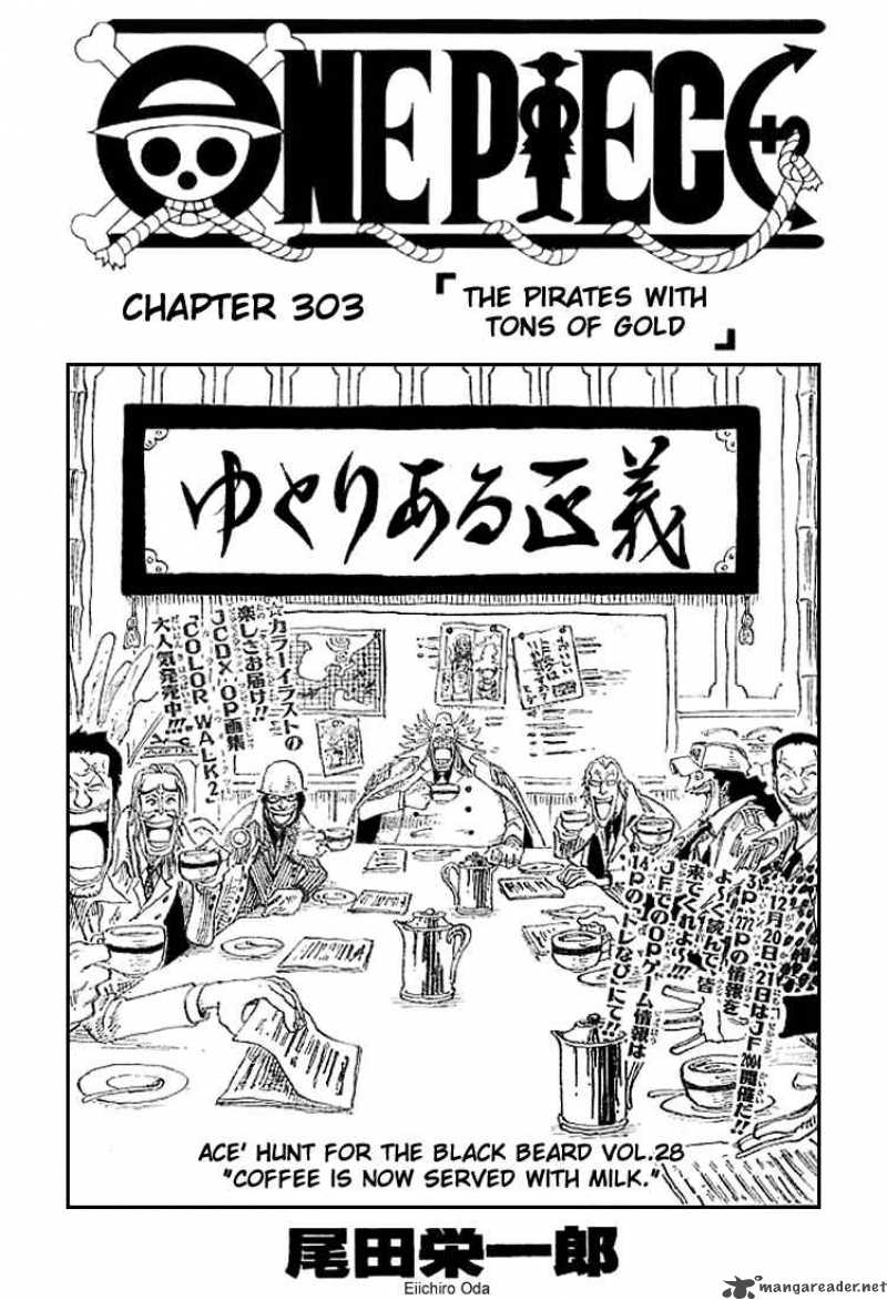 one-piece Chapter 303  Online Free Manga Read Image 1