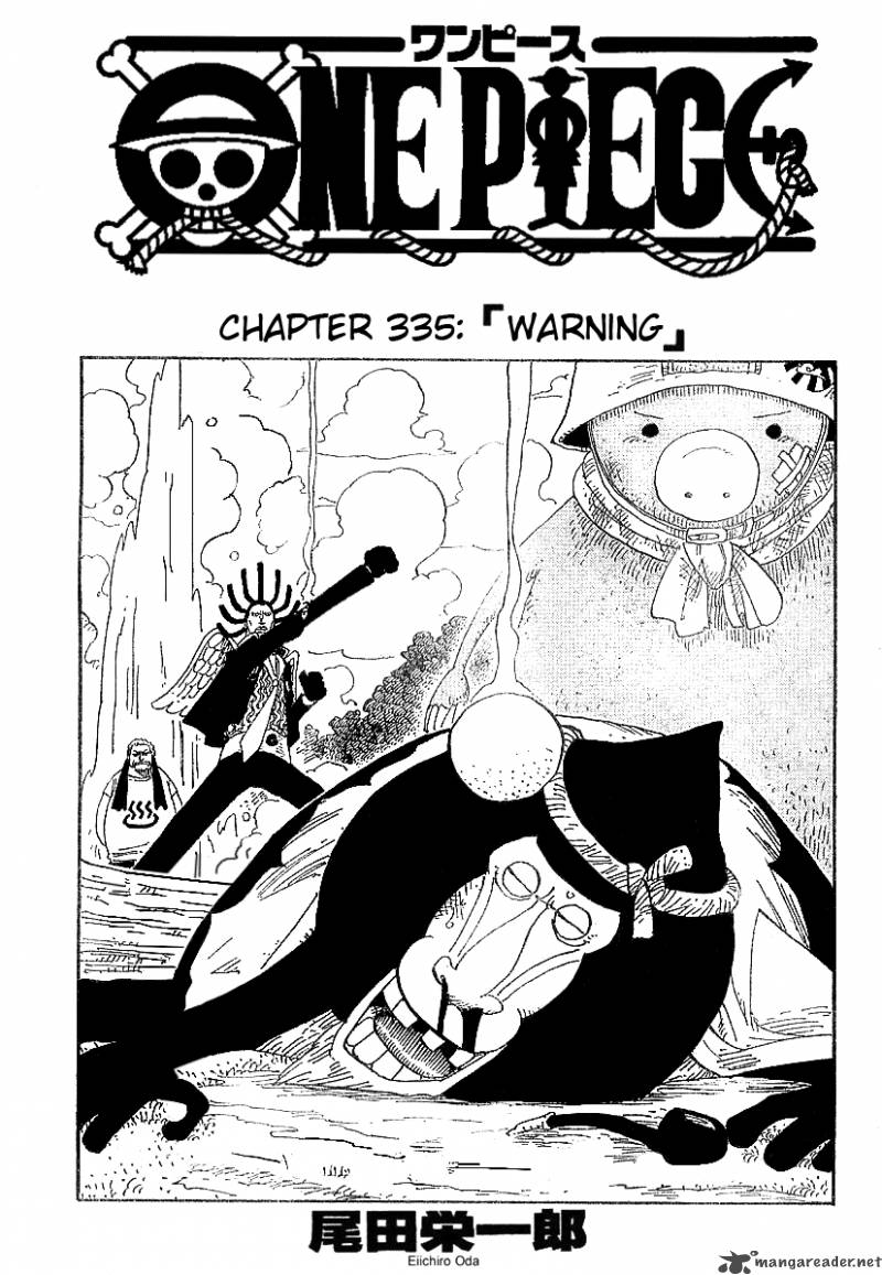one-piece Chapter 335  Online Free Manga Read Image 1