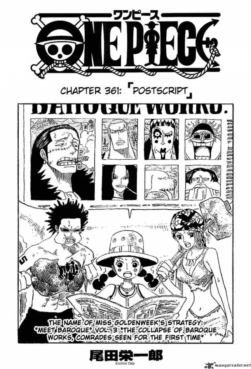 one-piece Chapter 361  Online Free Manga Read Image 1