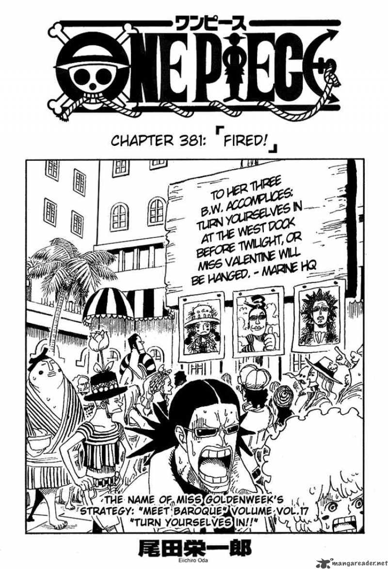 one-piece Chapter 381  Online Free Manga Read Image 1