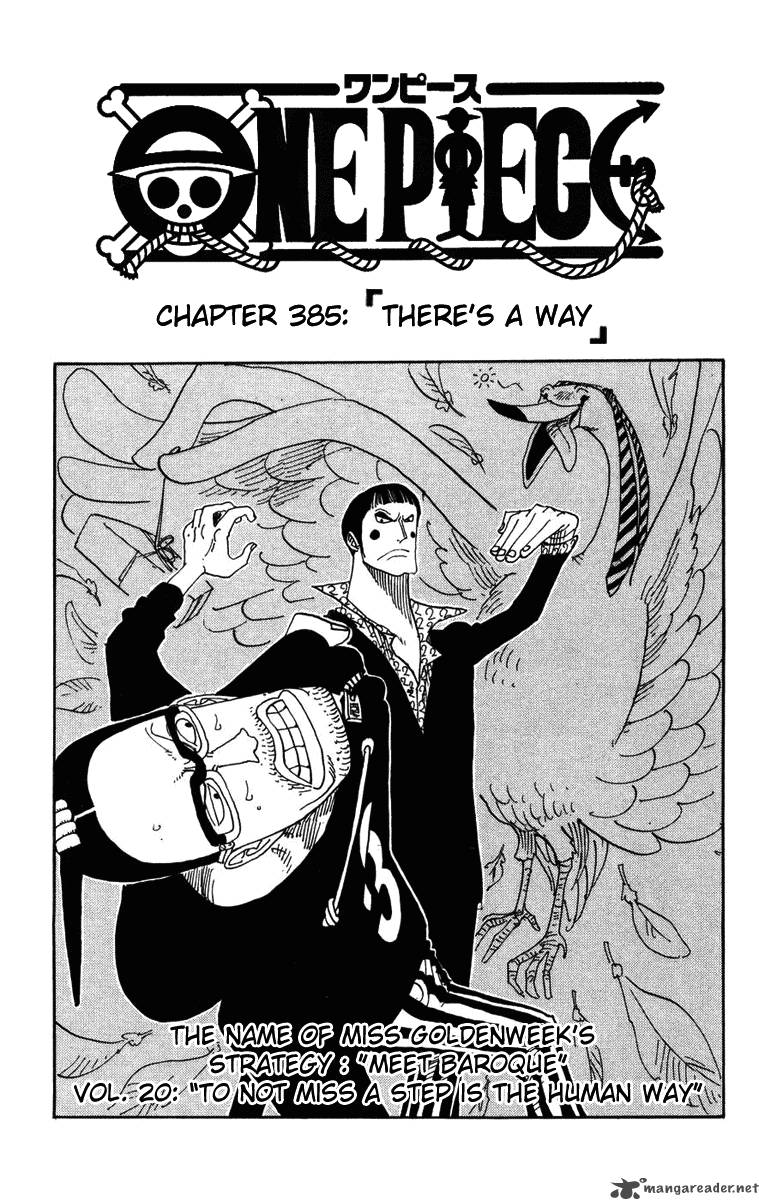 one-piece Chapter 385  Online Free Manga Read Image 1