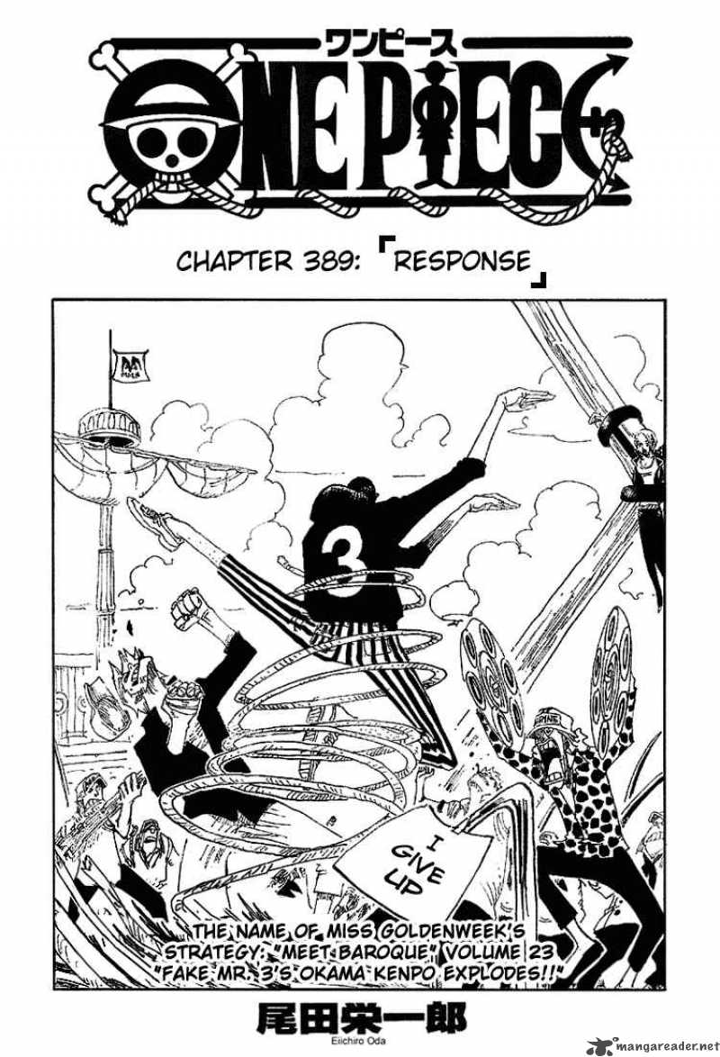 one-piece Chapter 389  Online Free Manga Read Image 1