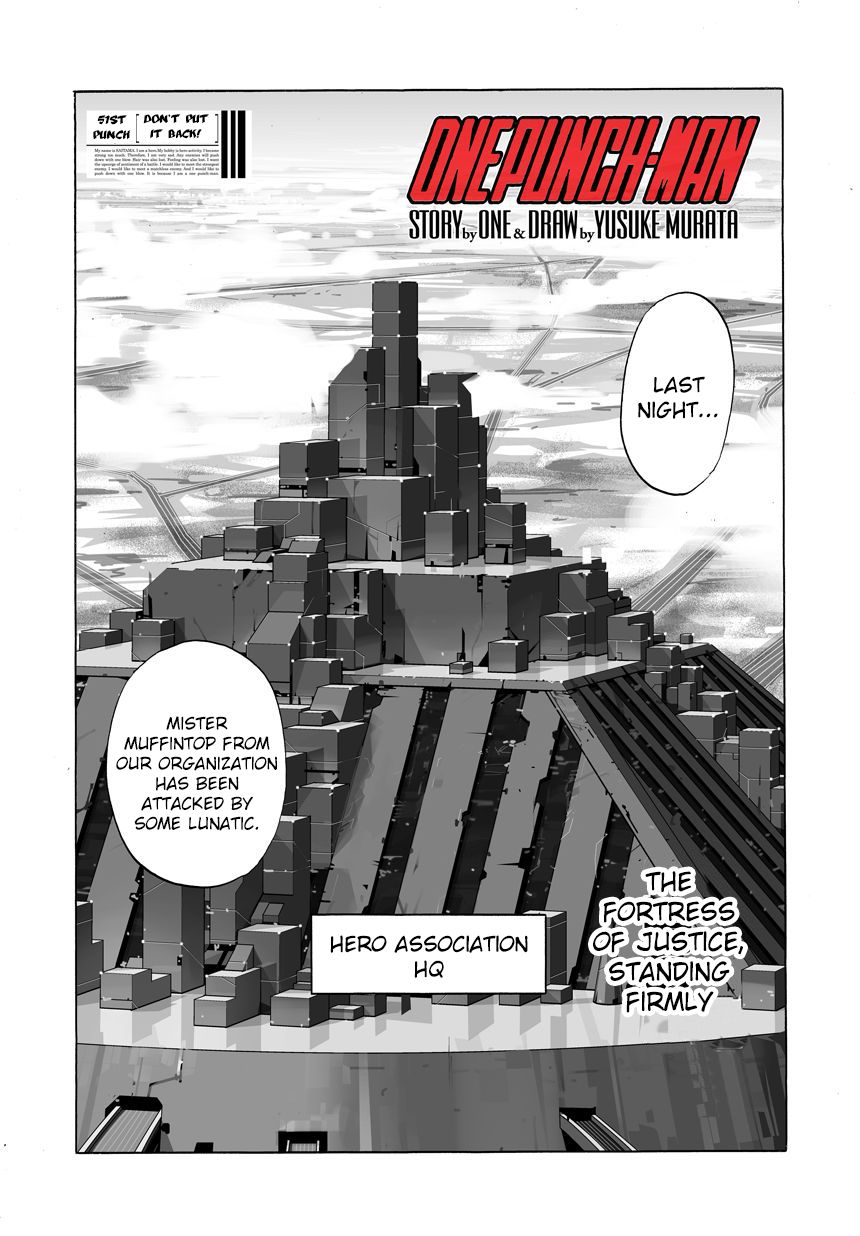 One Punch Man Chapter 50.1 Read Online Image 1