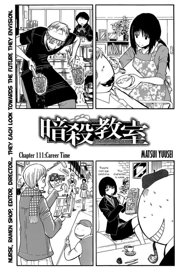 Ansatsu Kyoushitsu Chapter 111  Online Free Manga Read Image 1