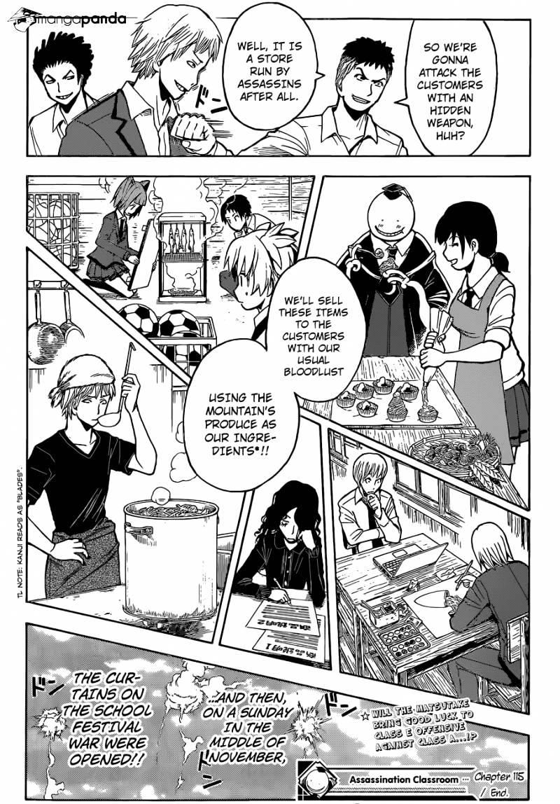 Ansatsu Kyoushitsu Chapter 115  Online Free Manga Read Image 23