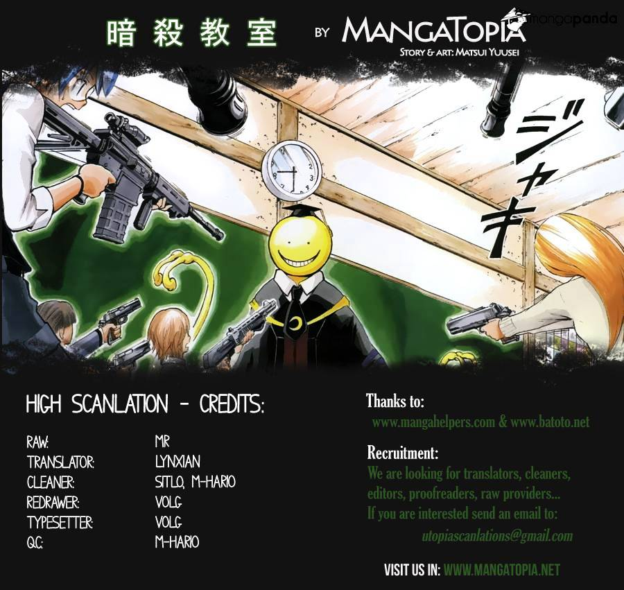 Ansatsu Kyoushitsu Chapter 14  Online Free Manga Read Image 1