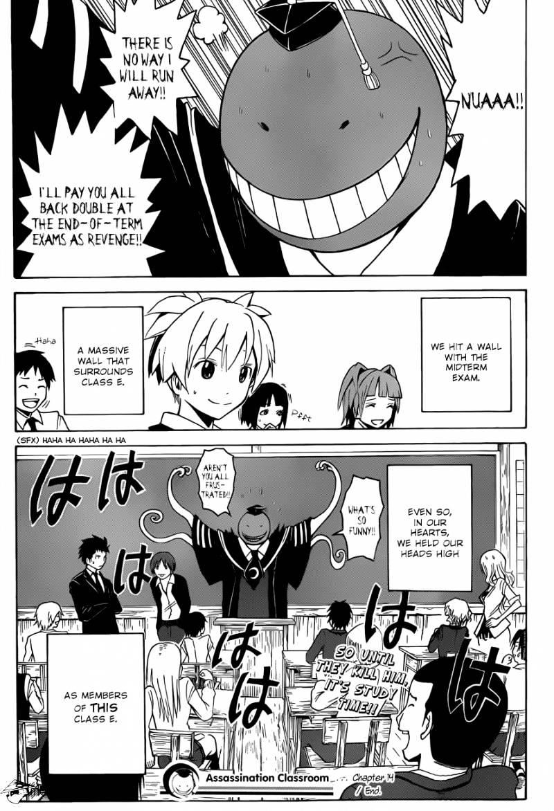 Ansatsu Kyoushitsu Chapter 14  Online Free Manga Read Image 20
