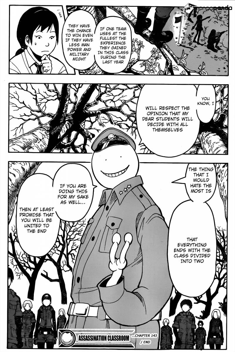 Ansatsu Kyoushitsu Chapter 143  Online Free Manga Read Image 20