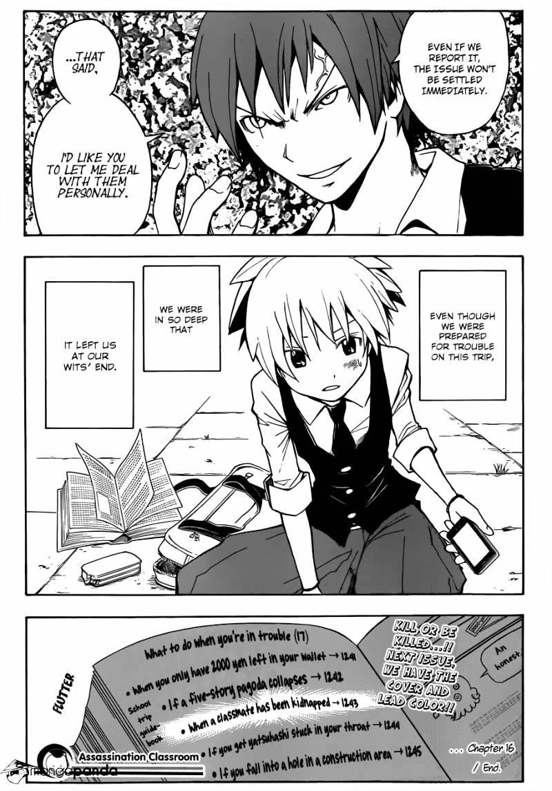 Ansatsu Kyoushitsu Chapter 16  Online Free Manga Read Image 20