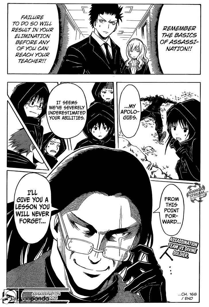 Ansatsu Kyoushitsu Chapter 168  Online Free Manga Read Image 20