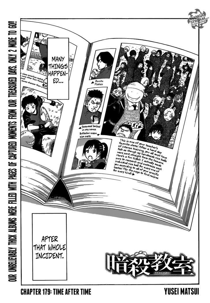 Ansatsu Kyoushitsu Chapter 179  Online Free Manga Read Image 1