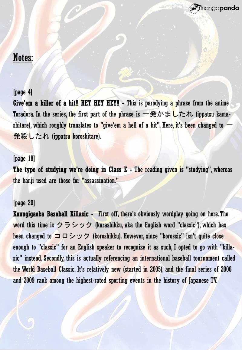 Ansatsu Kyoushitsu Chapter 34  Online Free Manga Read Image 22
