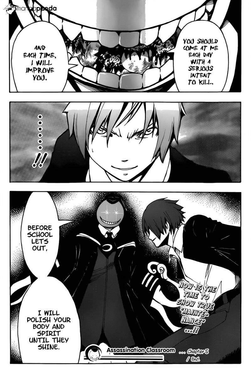 Ansatsu Kyoushitsu Chapter 5  Online Free Manga Read Image 22