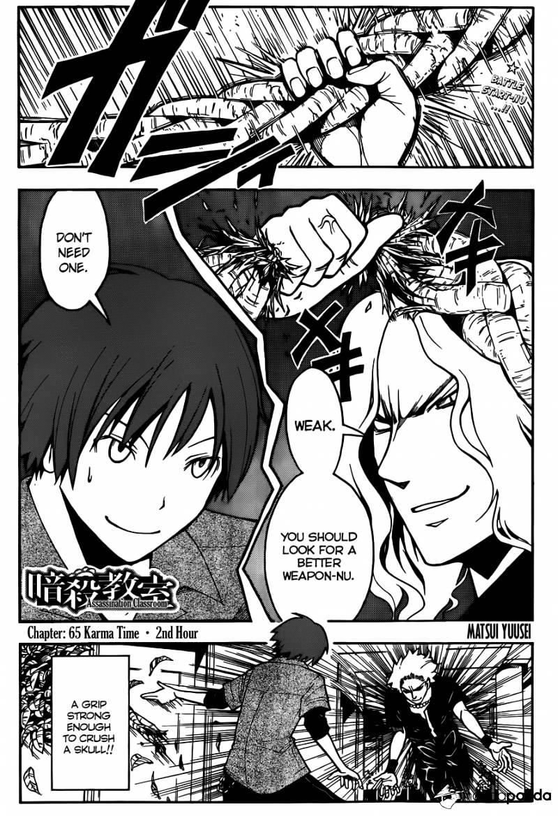 Ansatsu Kyoushitsu Chapter 65  Online Free Manga Read Image 2