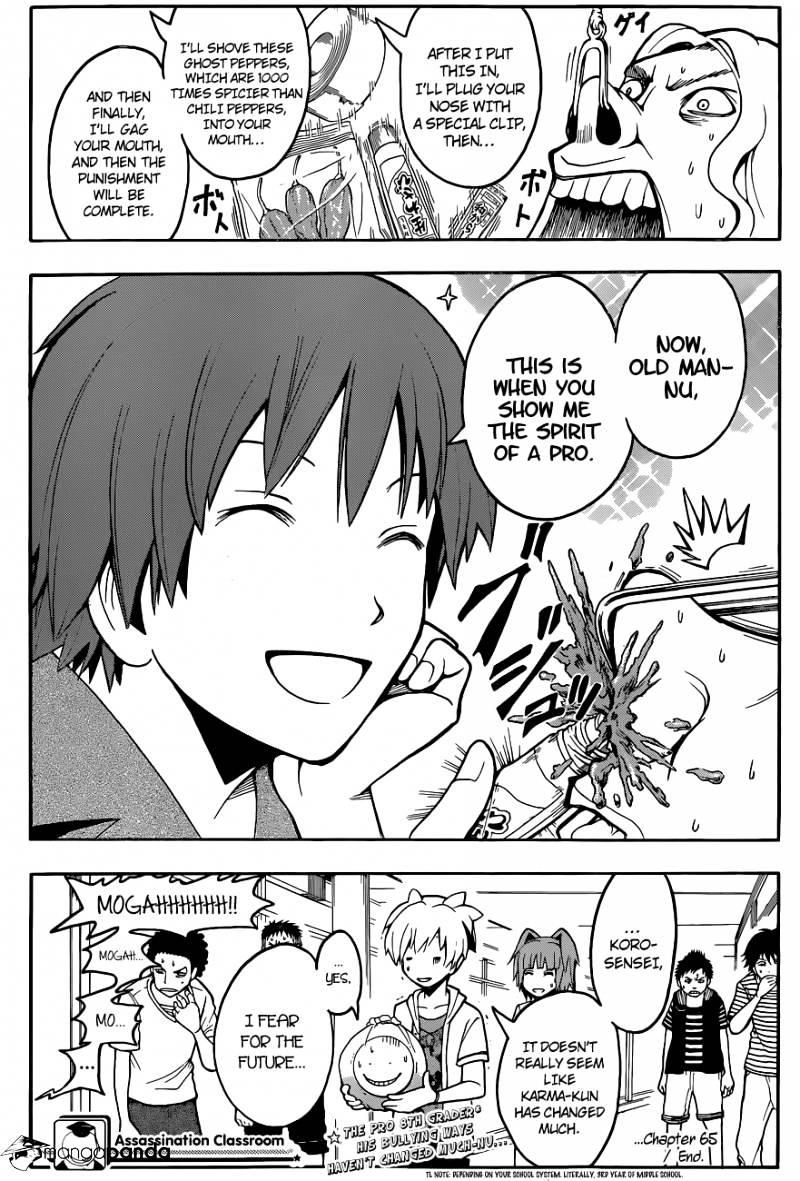 Ansatsu Kyoushitsu Chapter 65  Online Free Manga Read Image 20