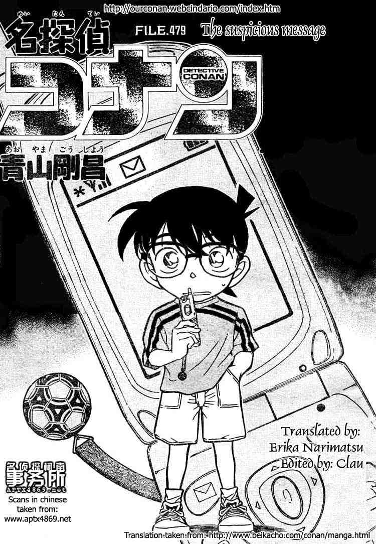 Detective Conan Chapter 479  Online Free Manga Read Image 1