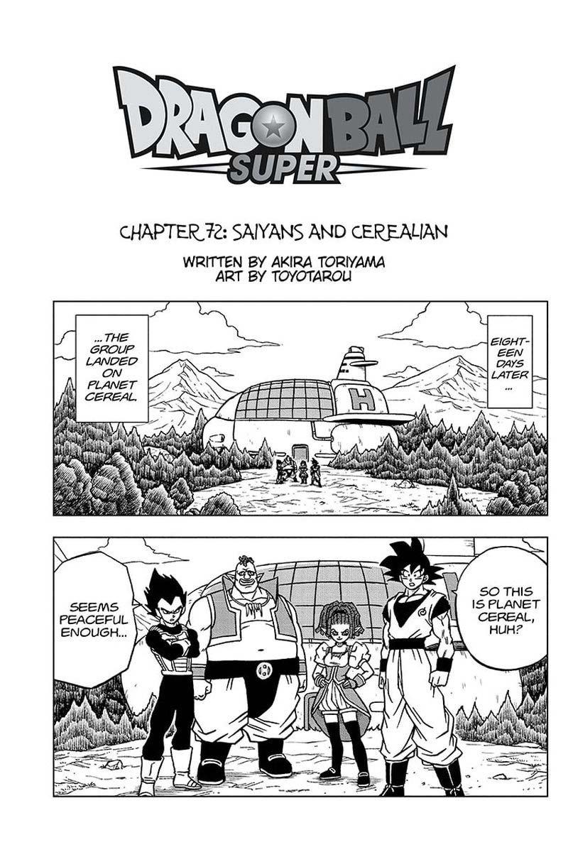 Dragon Ball Super Chapter 72  Online Free Manga Read Image 1