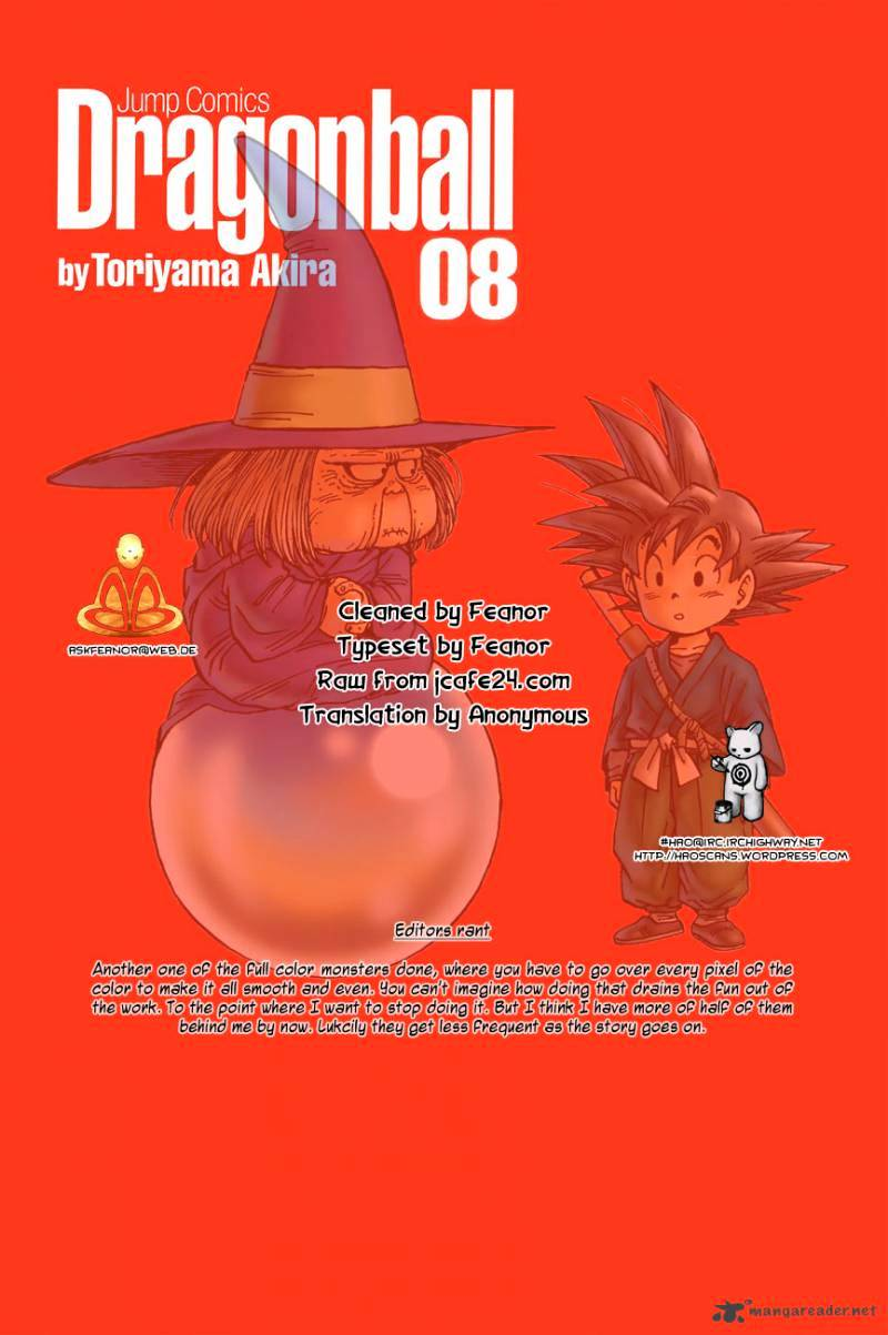 Dragon Ball Chapter 106  Online Free Manga Read Image 1
