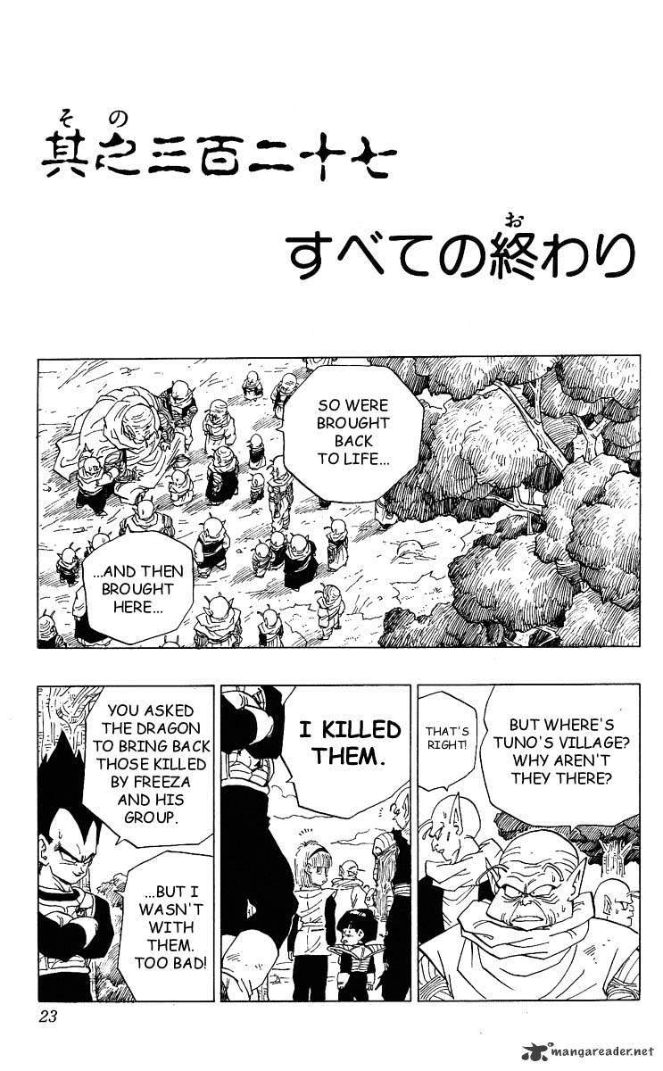 Dragon Ball Chapter 327  Online Free Manga Read Image 1