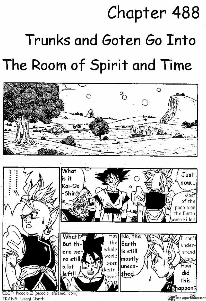 Dragon Ball Chapter 489  Online Free Manga Read Image 1