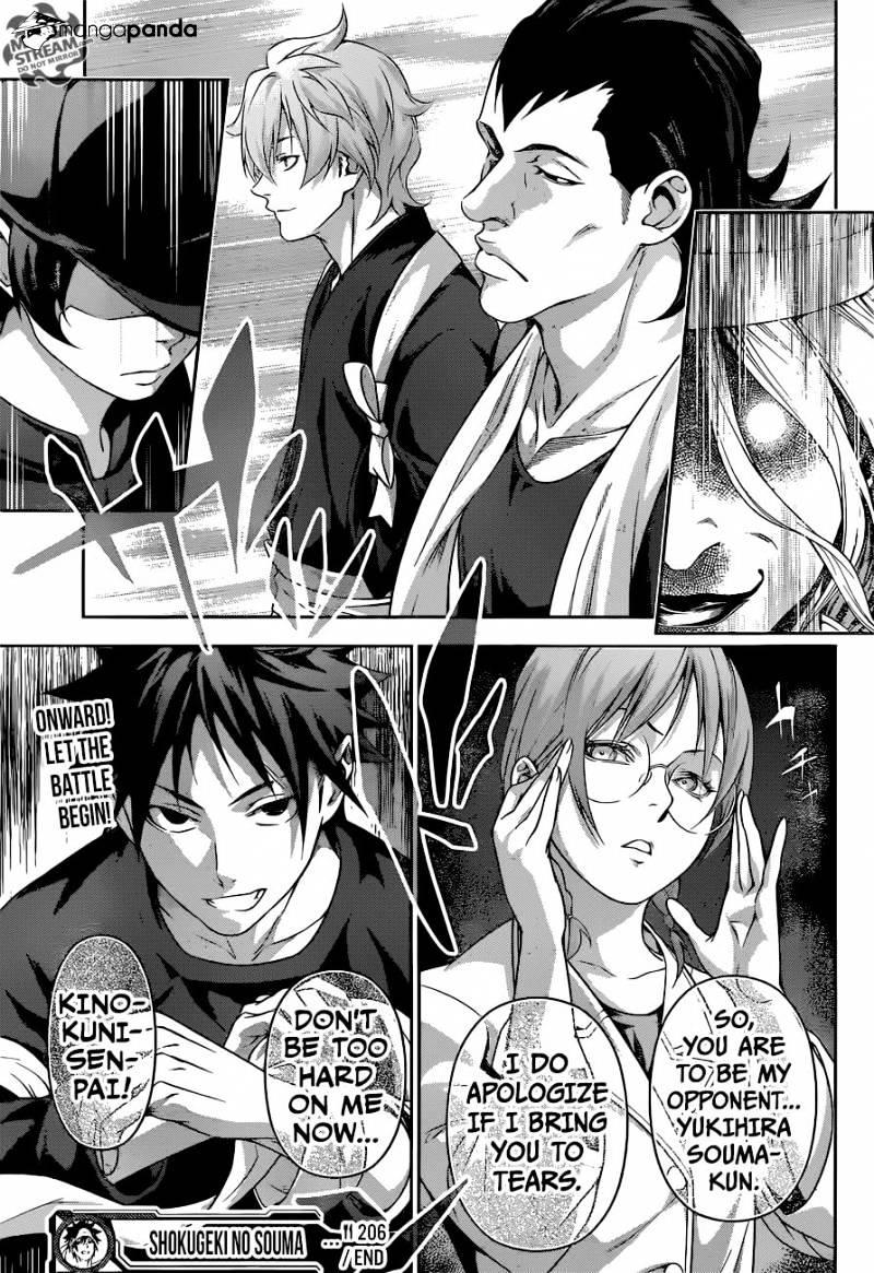 Shokugeki no Soma Chapter 206  Online Free Manga Read Image 19