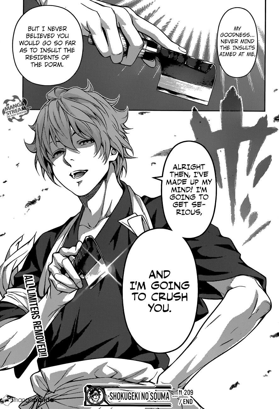 Shokugeki no Soma Chapter 209  Online Free Manga Read Image 19