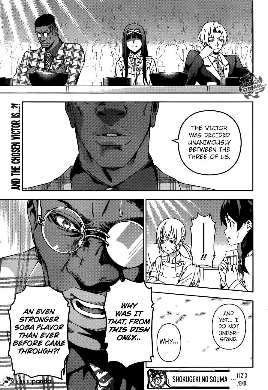 Shokugeki no Soma Chapter 213  Online Free Manga Read Image 19