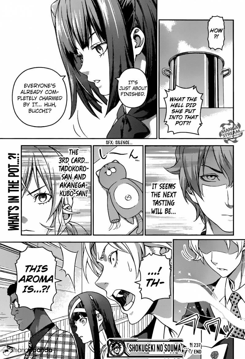 Shokugeki no Soma Chapter 237  Online Free Manga Read Image 19