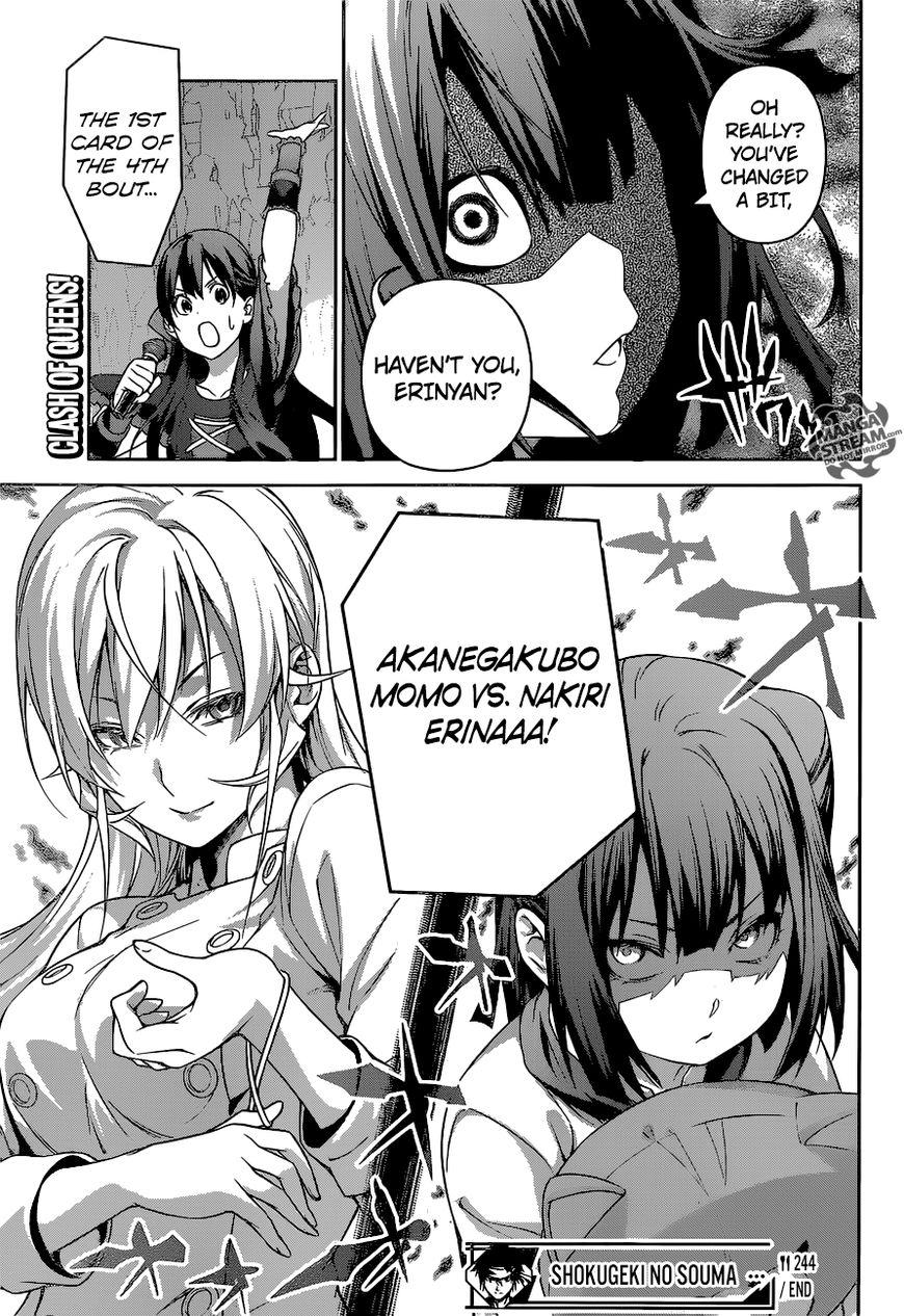 Shokugeki no Soma Chapter 244  Online Free Manga Read Image 20
