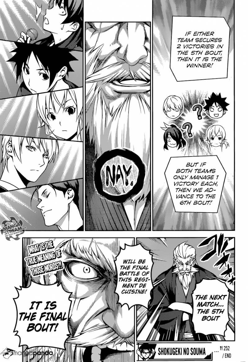 Shokugeki no Soma Chapter 252  Online Free Manga Read Image 18