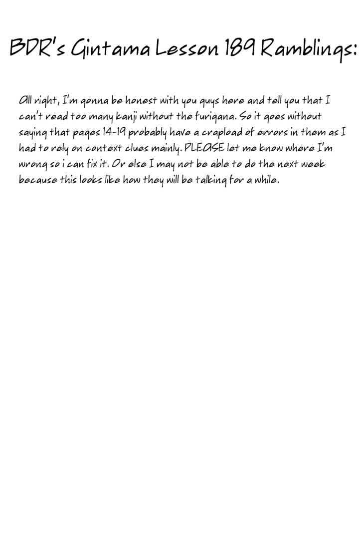 Gintama Chapter 189  Online Free Manga Read Image 2