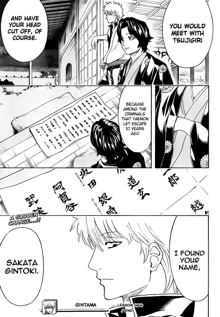 Gintama Chapter 464  Online Free Manga Read Image 16