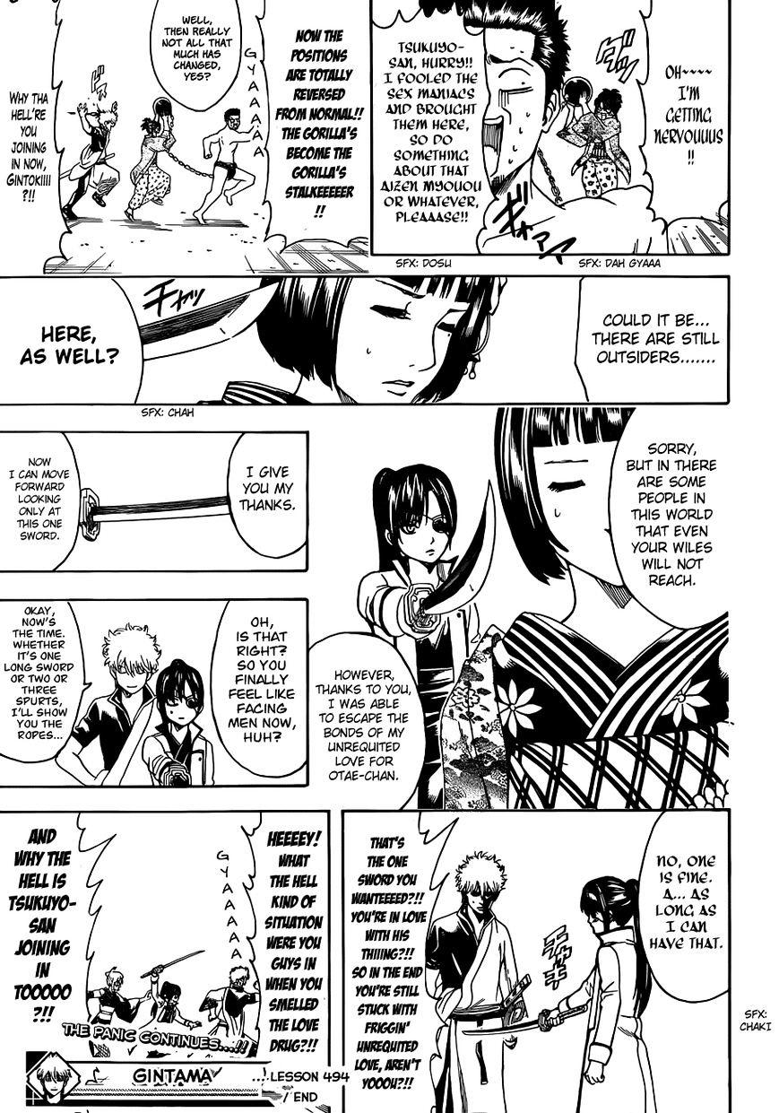 Gintama Chapter 494  Online Free Manga Read Image 17