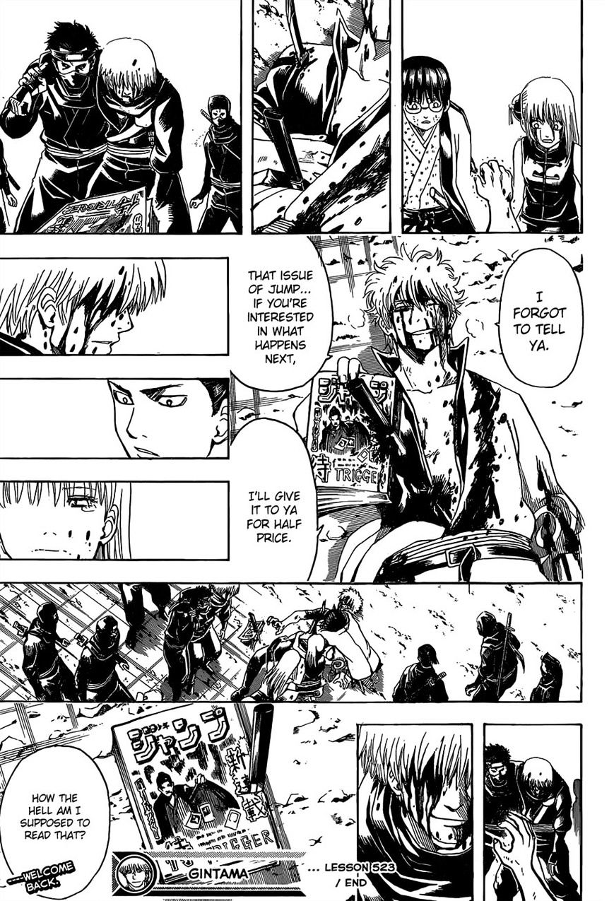 Gintama Chapter 523  Online Free Manga Read Image 18