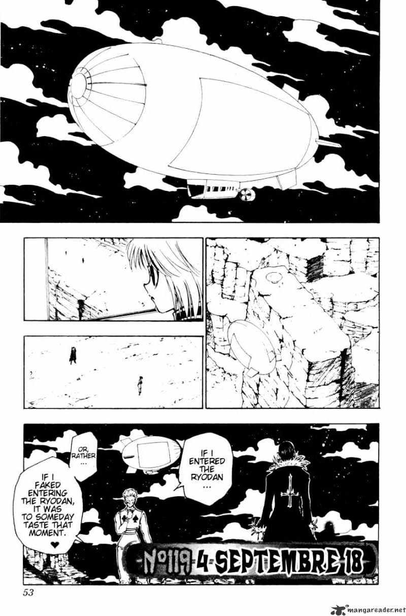 Hunter X Hunter Chapter 119  Online Free Manga Read Image 1