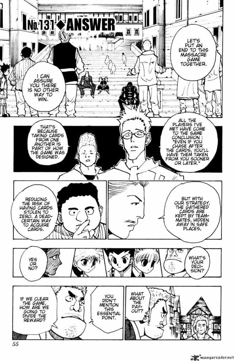Hunter X Hunter Chapter 131  Online Free Manga Read Image 1