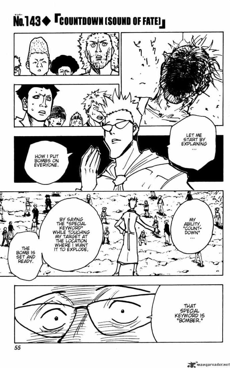 Hunter X Hunter Chapter 143  Online Free Manga Read Image 1
