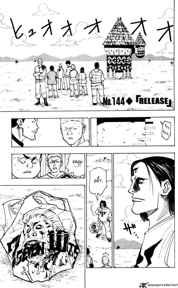 Hunter X Hunter Chapter 144  Online Free Manga Read Image 1