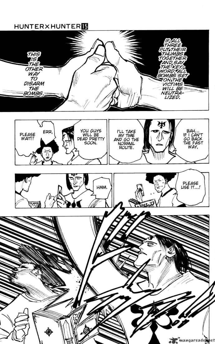 Hunter X Hunter Chapter 144  Online Free Manga Read Image 3