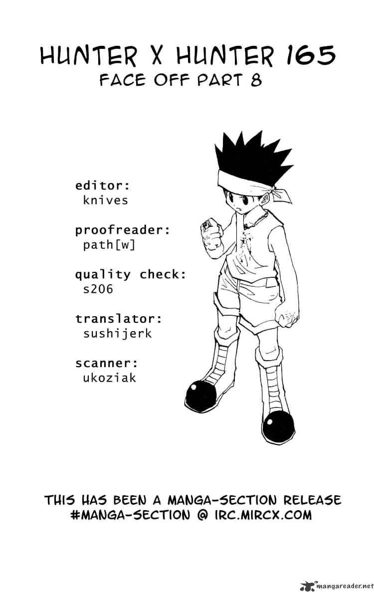 Hunter X Hunter Chapter 165  Online Free Manga Read Image 15