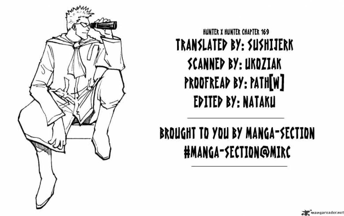 Hunter X Hunter Chapter 169  Online Free Manga Read Image 16