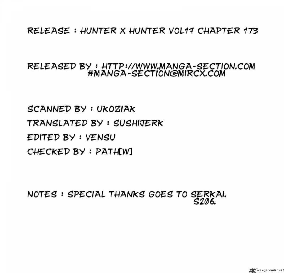 Hunter X Hunter Chapter 173  Online Free Manga Read Image 17