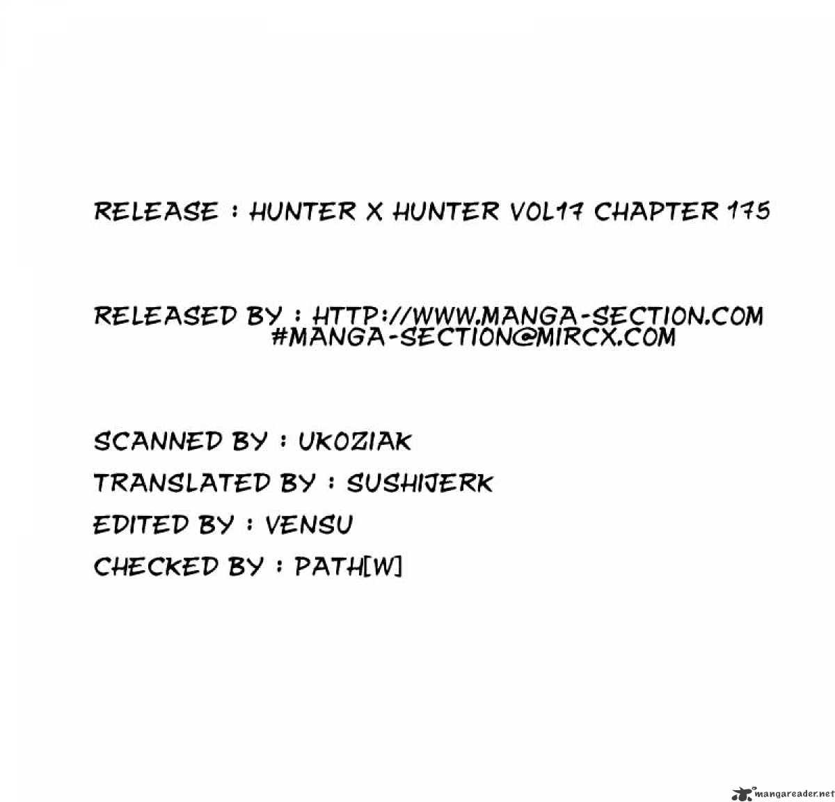 Hunter X Hunter Chapter 175  Online Free Manga Read Image 16
