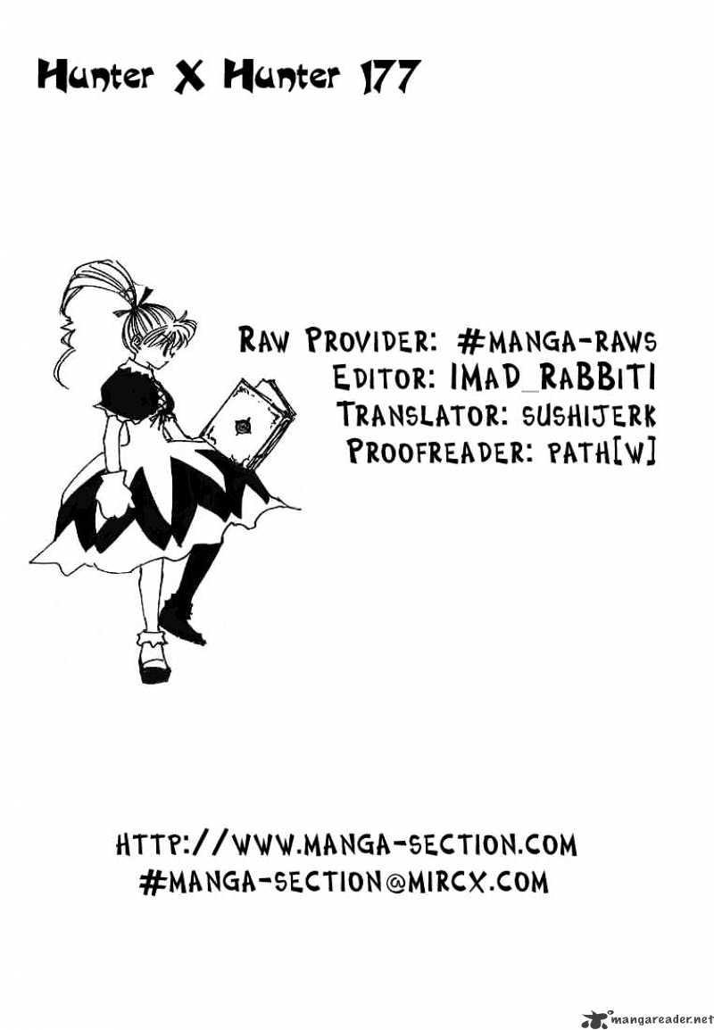Hunter X Hunter Chapter 177  Online Free Manga Read Image 16