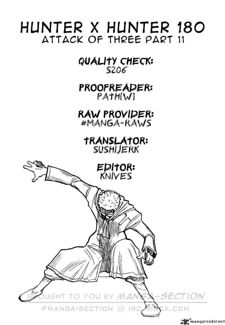 Hunter X Hunter Chapter 180  Online Free Manga Read Image 16