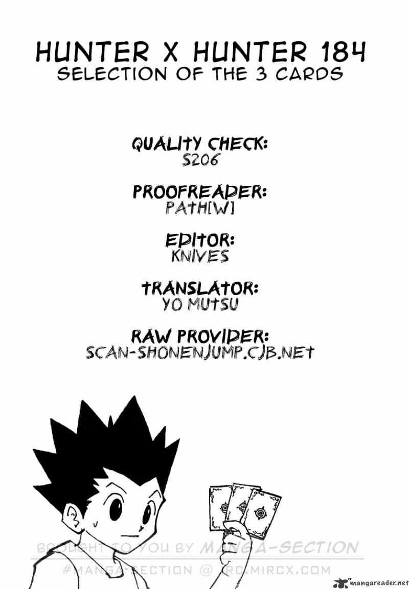 Hunter X Hunter Chapter 184  Online Free Manga Read Image 16