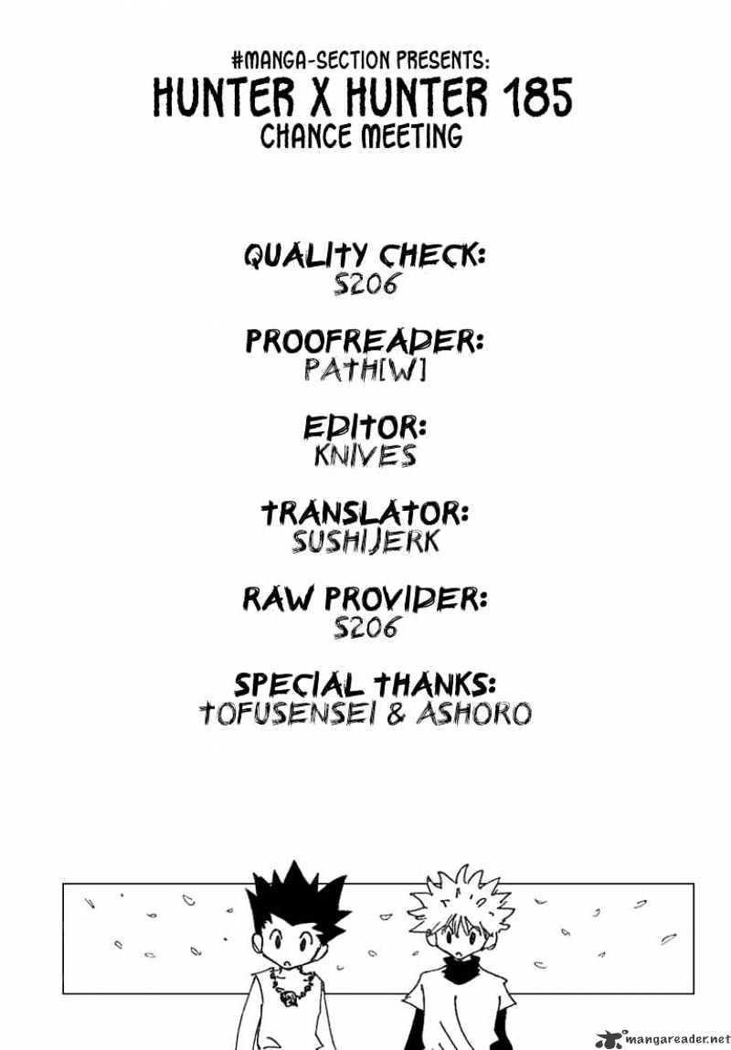 Hunter X Hunter Chapter 185  Online Free Manga Read Image 17