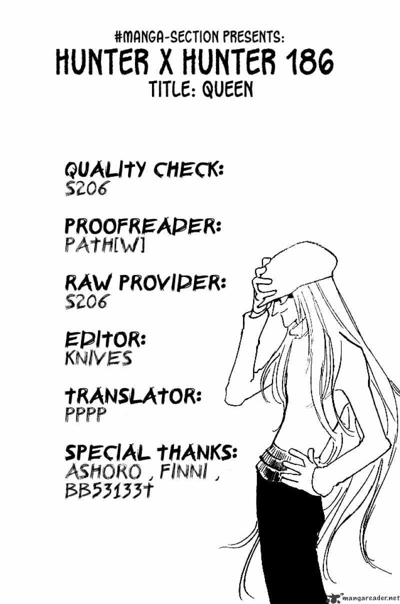 Hunter X Hunter Chapter 186  Online Free Manga Read Image 16