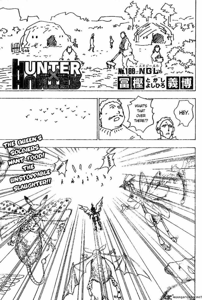 Hunter X Hunter Chapter 188  Online Free Manga Read Image 1