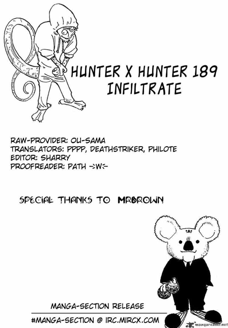 Hunter X Hunter Chapter 189  Online Free Manga Read Image 16